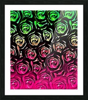 rose pattern texture abstract background in pink and green Picture Frame print