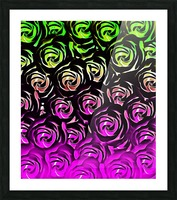 rose pattern texture abstract background in green and pink Picture Frame print