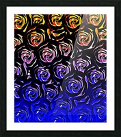 rose pattern texture abstract background in blue and red Picture Frame print