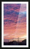 Red Sky Over Wires Picture Frame print