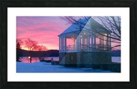 winter sunrise over the park Picture Frame print