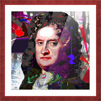 Newton Picture Frame print