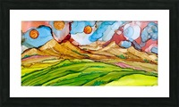 Three Suns Picture Frame print