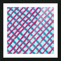 line pattern painting abstract background in blue and red Picture Frame print