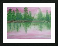 Reflections in the lake. Picture Frame print