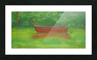 Rowboat drifting. Picture Frame print