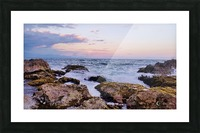 Evening waves Picture Frame print