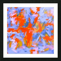 splash painting texture abstract background in red blue orange Picture Frame print