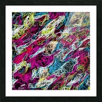 psychedelic rotten sketching texture abstract background in pink blue yellow Picture Frame print