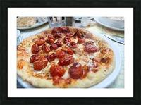 Pizza dans le Jardin de Nelson Picture Frame print