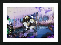 Large water ball. Picture Frame print