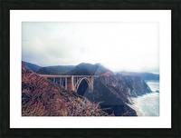 beautiful landscape at Bixby bridge, Big Sur, California, USA  Picture Frame print