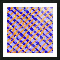 geometric pixel square pattern abstract background in orange blue purple Picture Frame print