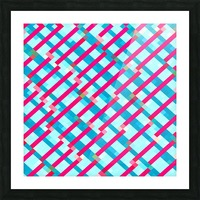 geometric pixel square pattern abstract background in blue pink Picture Frame print