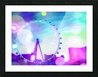 ferris wheel in the city at Las Vegas, USA with the night light bokeh Picture Frame print