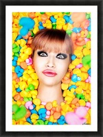 Duckfaceicon Picture Frame print