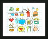 colorful doodle Picture Frame print