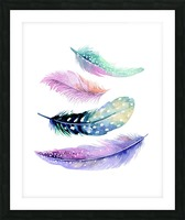 feather Picture Frame print
