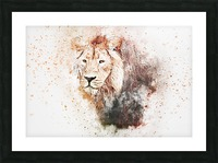 lionss Picture Frame print