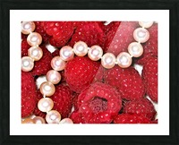 Raspberry pearls Picture Frame print