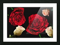 Crazy Roses Picture Frame print