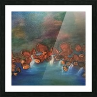 Journey into the depths Picture Frame print