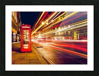 Telephone Box Timelapse Picture Frame print