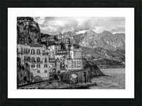 Black and White Landscape - Amalfi Coast - Italy Picture Frame print