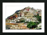 Positano Village in Amalfi Coast - Italy Picture Frame print