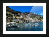 Amalfi Coast Panoramic View Picture Frame print
