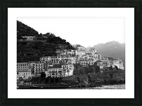 Amalfi Village -  Black and White Landscape Picture Frame print
