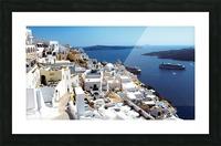 Super panoramic view - Santorini - Greece Picture Frame print