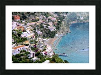 Aerial view of Positano Beach - Italy Picture Frame print