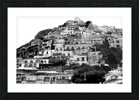 Black and White Landscape - Positano - Italy Picture Frame print