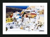 Colours of Santorini Picture Frame print