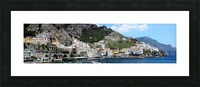 Super panoramic Amalfi City - Italy Picture Frame print