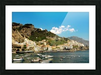 Amalfi Town - Panoramic View - Italy Picture Frame print