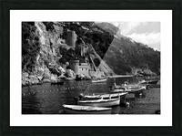 Beautiful View of Amalfi Coast Beach - Italy Picture Frame print