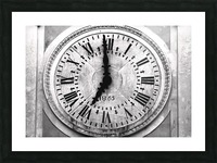 The Old Church Clock Picture Frame print
