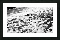 Beach Rocks Black and White II Picture Frame print