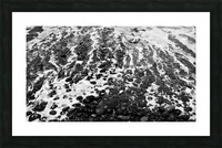 The Beach - Ocean waves in Black and White Picture Frame print