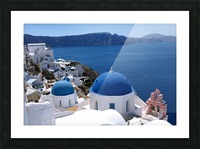 Amazing Santorini Landscape  Picture Frame print