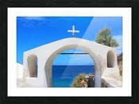 The Arch - Santorini Island Picture Frame print