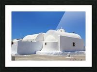 White Church -Santorini Island -  Greece Picture Frame print