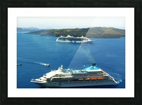 The Cruise Ship in the Blue Ocean Picture Frame print