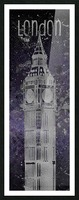 Graphic Art LONDON Big Ben| ultraviolet & silver Picture Frame print