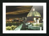 London Night skyline  Picture Frame print