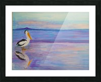 Bird on The Beach Picture Frame print