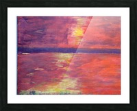 Red Abstract Sunset Picture Frame print