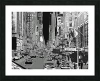 Madison Ave B&W Picture Frame print